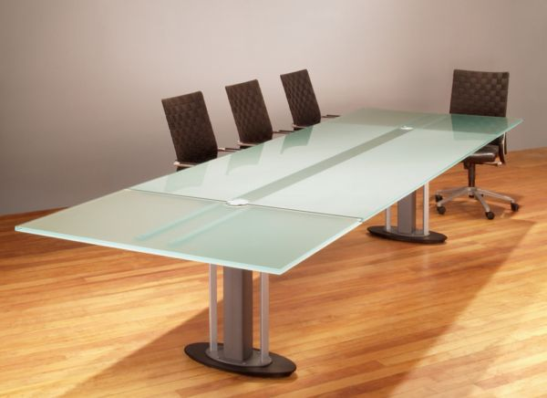 Large Glass Conference Table Glass Conference Table