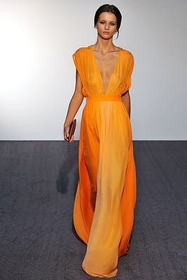 {tangerine gown}