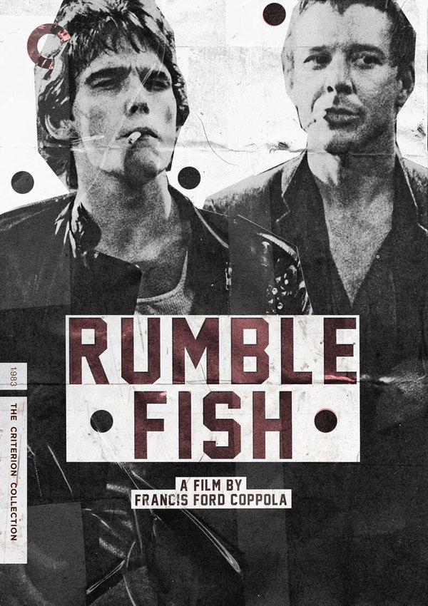 Rumble Fish - Francis Ford Coppola:映画も好きだな~。説明は少なくて魚のベタが印象的。