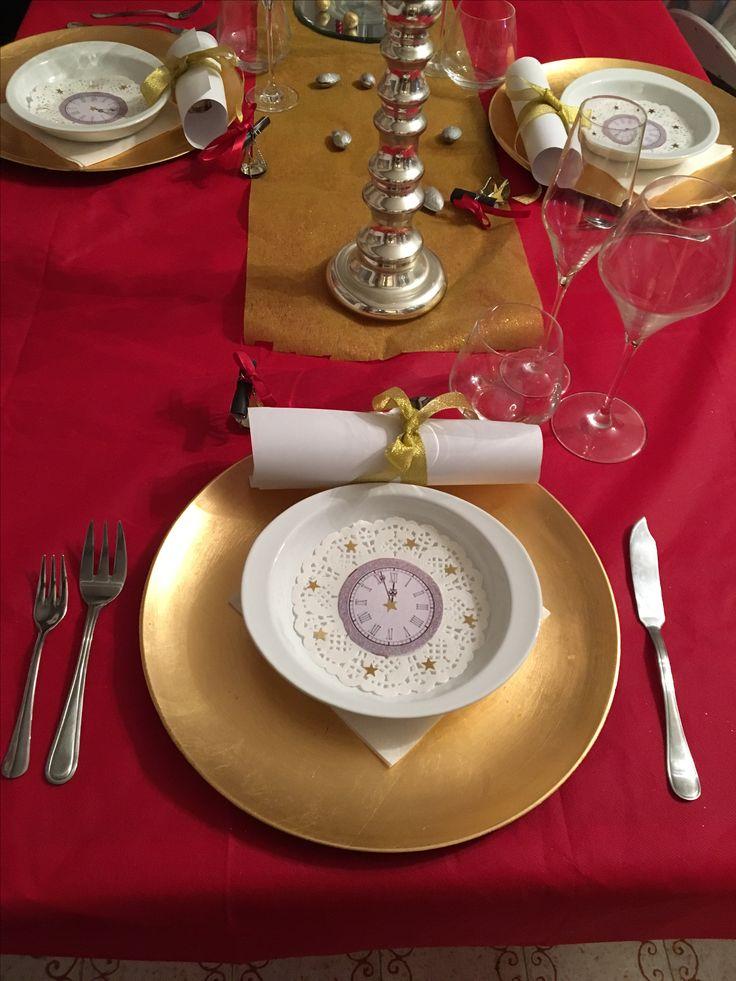 Capodanno decorazioni tavola