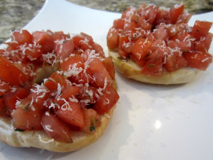 One of @Lena Almeida's Loaded #Bruschetta #Bagels makes a fantastic anytime snack
