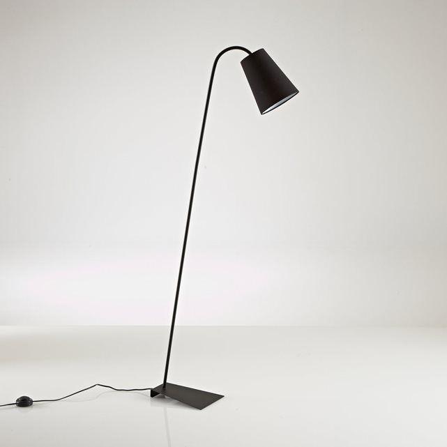 Zuiver design voor deze hedendaagse leeslamp Pactus : kan zowel in de slaapkamer als woonkamer worden geplaatst. Omschrijving :Fitting E27, vermogen 15W compacte fluo lamp (niet meegeleverd).Compatibel met lampen met energiewaarde : A Eigenschappen :Afmetingen Lampenkap in zwarte of witte stof.Afmetingen :Lampenkap :   Ø20 x H49 cmTotale hoogte : 138 cm.
