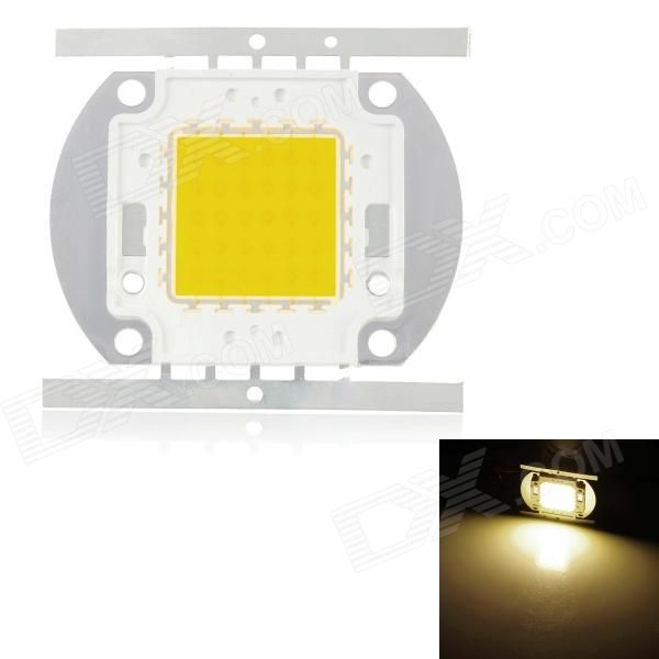 Chip: Epistar (5 in series 6 in parallel) - Color: Silver - Material: Copper + silicon - Color Temperature: 3000K warm white - Working voltage: 15~18V - Input Current: 1.8A - Power: 30W - Luminous Flux: 2500~2700lm - Bulb interface: Weld - Application: Project lamp, street lamp, ceiling lamp light - Packing List: - 1 x Light emitter metal plate http://j.mp/1ljHY9Y