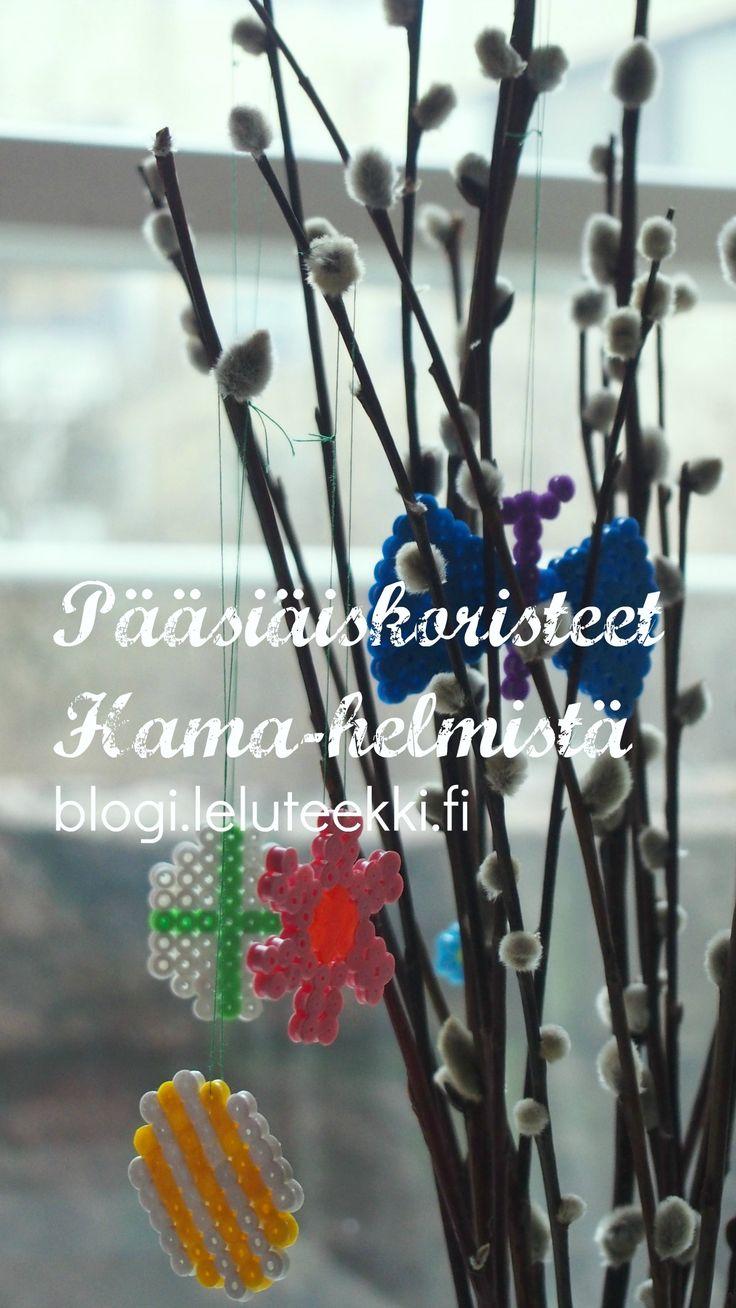 Pääsiäisaskartelua Hama-helmistä #askartelu #askarteluohjeita #lapsille #pääsiäinen #pääsiäisaskartelu #hamahelmet #hama #beads