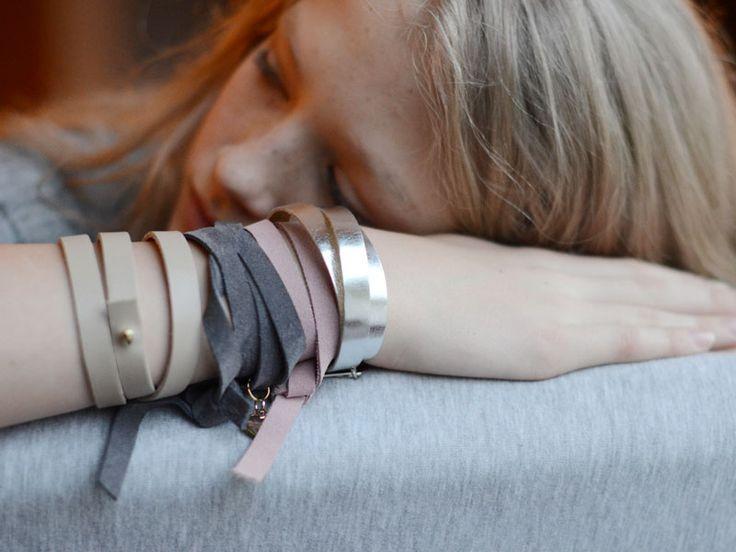 leather bracelet, suede bracelet