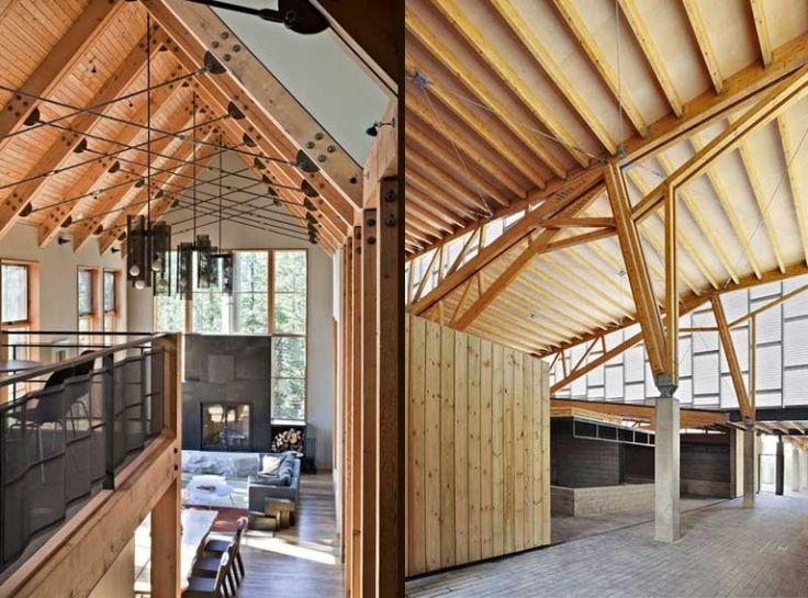 M s de 25 ideas incre bles sobre estructuras de madera - Casas con estructura de madera ...