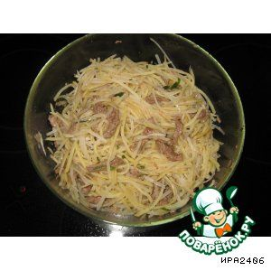 Картофельный салат по карейский