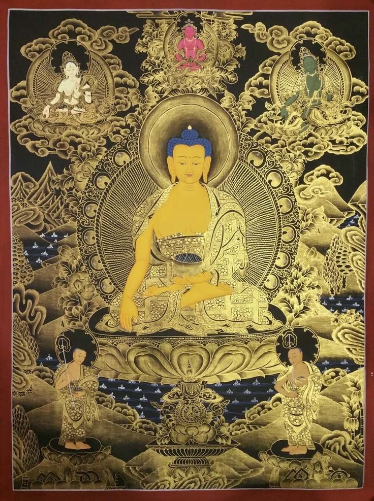 Shakyamuni Buddha premium quality thangka painting