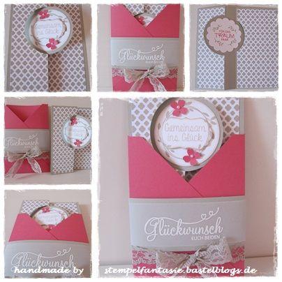 Hochzeitskarte, Wedding Card, Stampin`Up!, Stempelfantasie