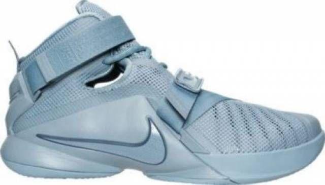 Nike LeBron Soldier 9 PRM Men's Basketball Shoes Size 11 Blue / Grey 749490-444 #Nike #749490444