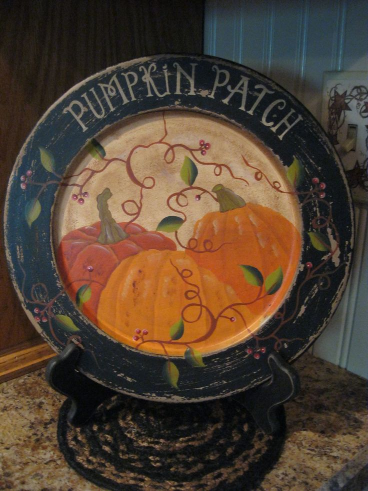 Plate & 8 best Primitive Fall Wooden Plates images on Pinterest   Fall ...