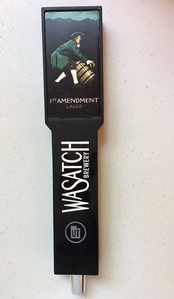 1ST AMENDMENT BREWERY Lager Wasatch Can Top Beer Tap Handle UT    eBay