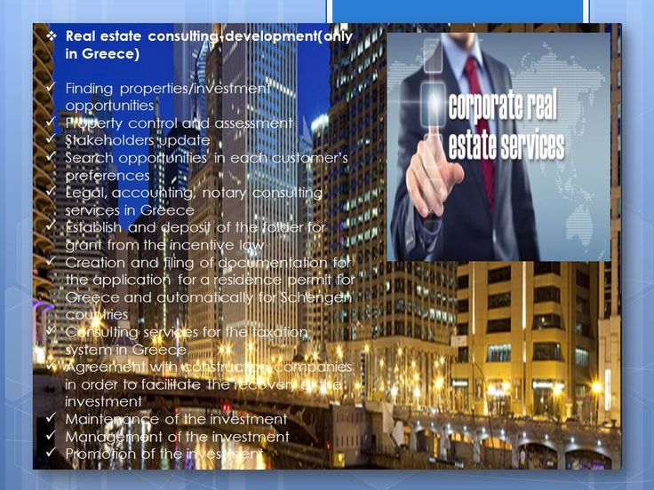 Real estate consulting-development