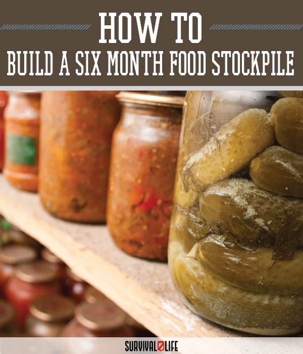 """Build a 6-Month Food Stockpile on a Tight Budget 