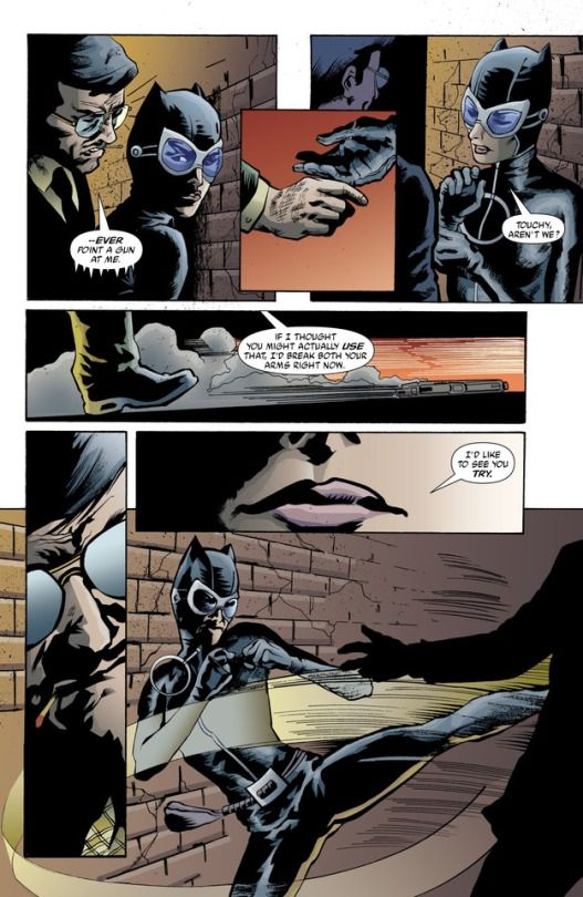 Batman: Legends of the Dark Knight, issue # 178 (June 2004).    Batman (undercover as Matches Malone) get a little too touchy with Catwoman.