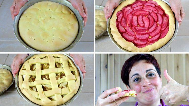3 modi facili per fare la crostata di mele, con la marmellata, con la crema, con gli amaretti, usando la pasta frolla senza burro