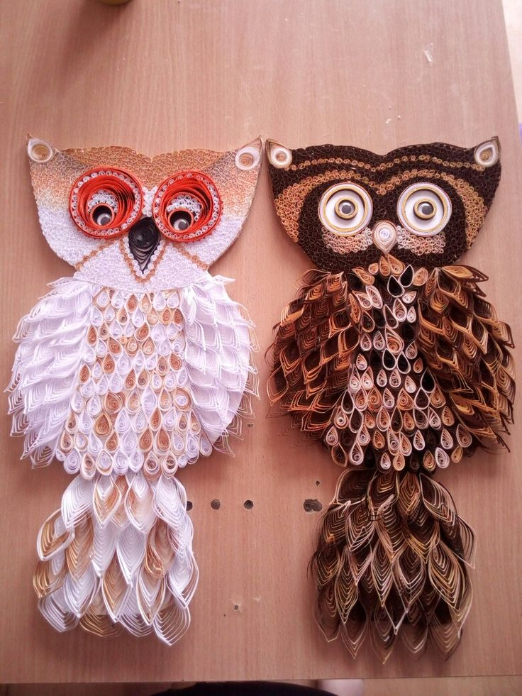 Quilling sovy