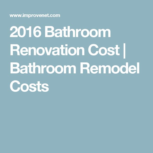 Whether Youu0027re Adding A New Bathroom Or Remodeling An Existing Bathroom,  Your Bathroom Cost Will Depend On A Few Factors. Use ImproveNetu0027s Bathroom  Cost ...