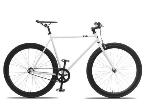 Special Offers - TMS White/blk Fixie Road Bike Steel Alloy Track Bicycle Fixed Gear Single Speed 54cm - In stock & Free Shipping. You can save more money! Check It (May 12 2016 at 11:51AM) >> http://cruiserbikeswm.net/tms-whiteblk-fixie-road-bike-steel-alloy-track-bicycle-fixed-gear-single-speed-54cm/