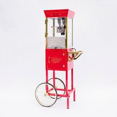 rent popcorn machine or have festive bowls of sugared popcorn (would be cheap if we got seasonings and put them out next to a bowl of air popped corn)
