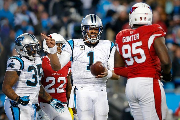 Cam Newton #1 of the Carolina Panthers reacts in the second quarter against the Arizona Cardinals during the NFC Championship Game at Bank of America Stadium on January 24, 2016 in Charlotte, North Carolina.  He spoiled the Cardinals Super Bowl 50 dreams, but did the Panthers win also hurt the eventual economic impact of SB 50 on the Bay Area?
