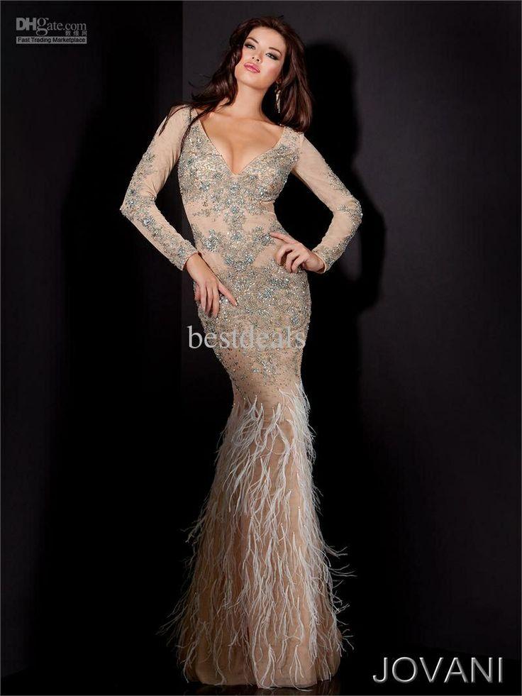 Jovani long sleeve prom dress - Prom - Pinterest - Prom dresses ...