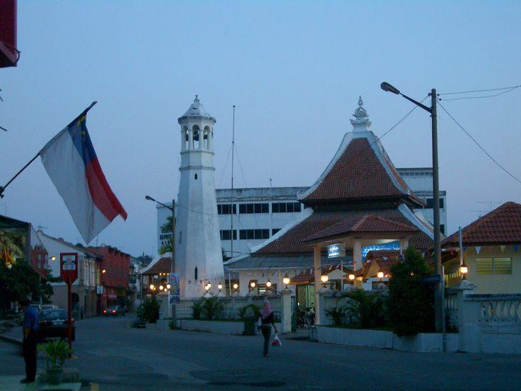 Kampung Hulu Mosque around the Maghrib (sunset) prayer time | Melaka, Malaysia