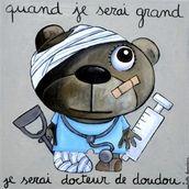 Docteur de doudou -création isabelle kessedjian 30 x 30 cm