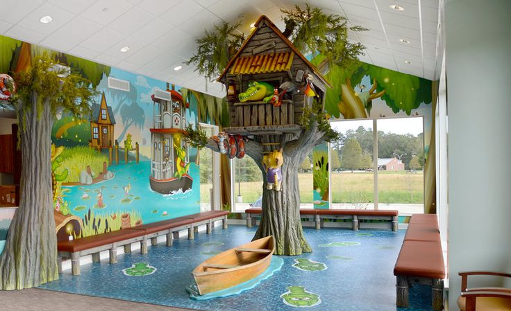 Bayou Themed Pediatric Dental In Photos Imagination Dental Solutions Pediatric Waiting Room Ideas In 2019 Swamp Theme Kids Cafe Bedroom Themes