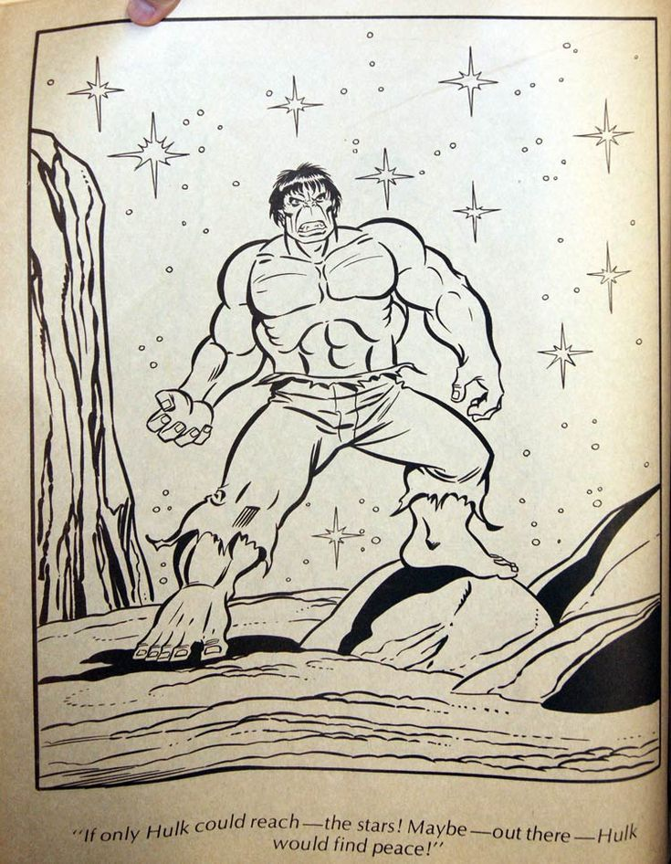 14 Best Colouring Book The Incredible Hulk Giant Story Images On