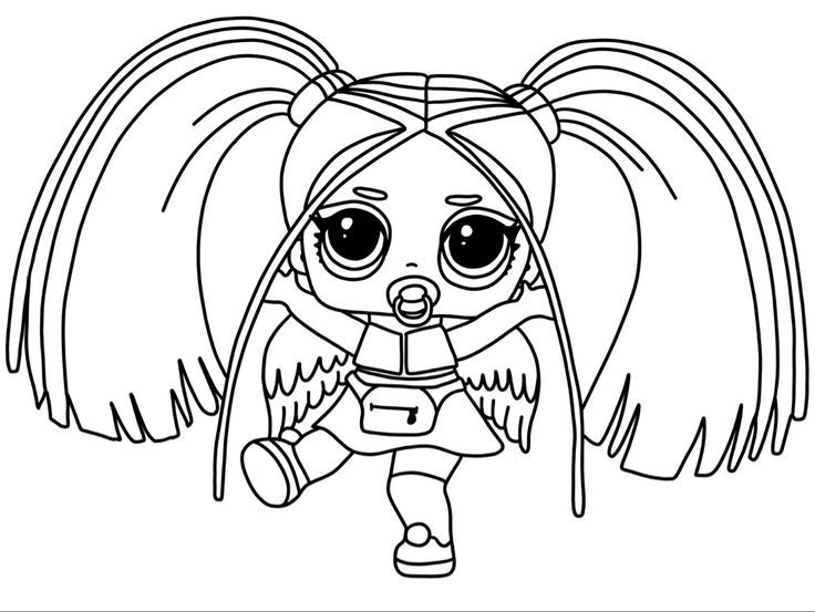 New 2019 Lol Surprise Dolls Coloring Book Rainbow Raver Doll To Color With Images Cute Coloring Pages Unicorn Coloring Pages Scary Coloring Pages
