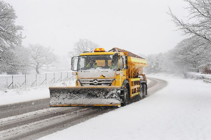 One of our gritters with snow plough pictured on the Padiham Bypass #LancsWinter #Winter