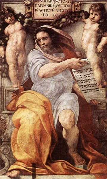 The Prophet Isaiah - Raphael 1511-12 inside the Basilica of Sant'Agostino, Rome