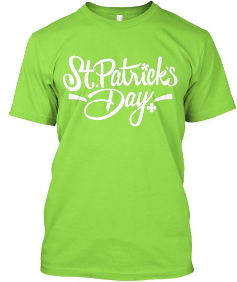 Saint Patrick's Day Lime T-Shirt Front