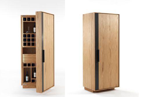 Armario botellero y bodega de vino Cambusa: abierto y cerrado