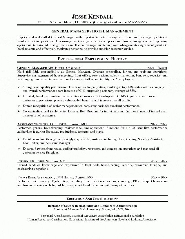 21 best Consent form images on Pinterest Med school, Medical and - hotel manager resume