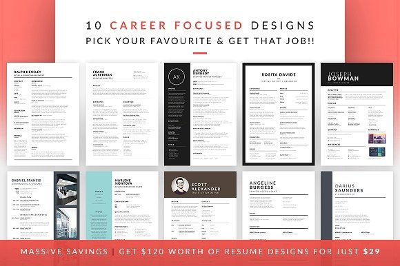 Essential Resume Collection by bilmaw creative on @creativemarket