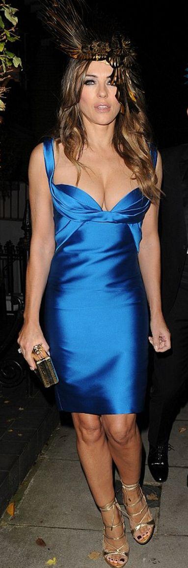 Elizabeth Hurley wearing DSQUARED2