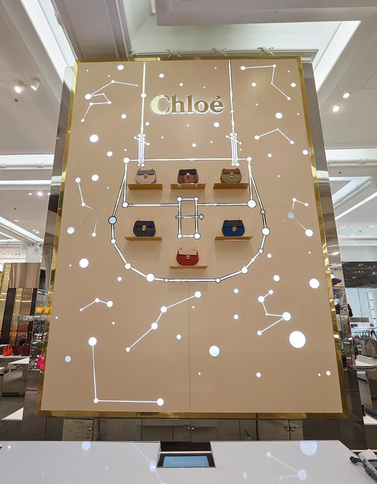 "SELFRIDGES,London,UK, ""Journey to the Stars"", (Featuring the Chloe Drew Bag), creative by Chameleon, pinned by Ton van der Veer"