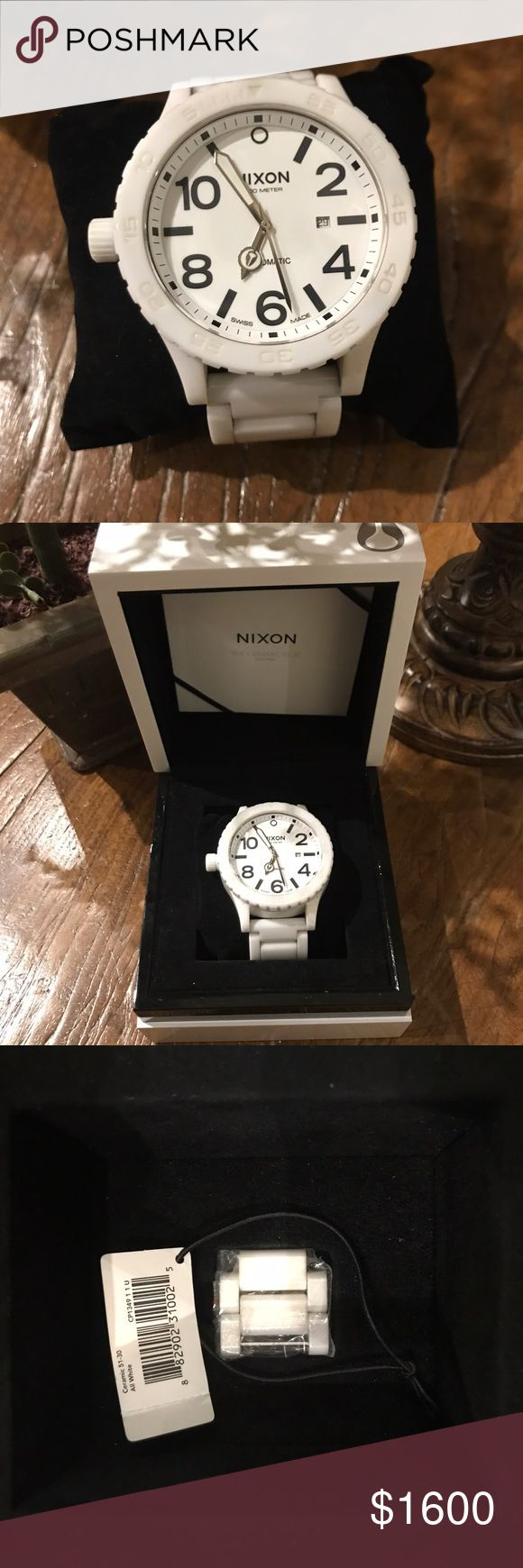 PRICE DROP 🐝🌻🎉 • MEN'S NIXON 42-20 SWISS WORN TWICE! In absolutely PHENOMENAL condition!!! One of the best Nixon watches on the market! Perfect for birthday, anniversary or Father's Day gift! Extra links and original box and manual included! **lowest price- no offers please! Nixon Accessories Watches