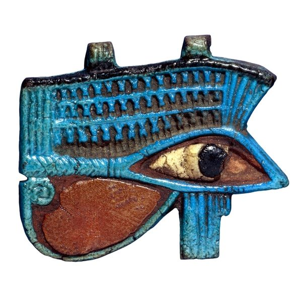 Faience wedjat eye Egypt, Third Intermediate Period, 1069-945 BC An Egyptian healing symbol