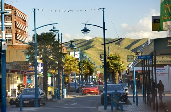 a street in Blenheim, Marlborough region, New Zealand // heart of NZ wine country on the South Island