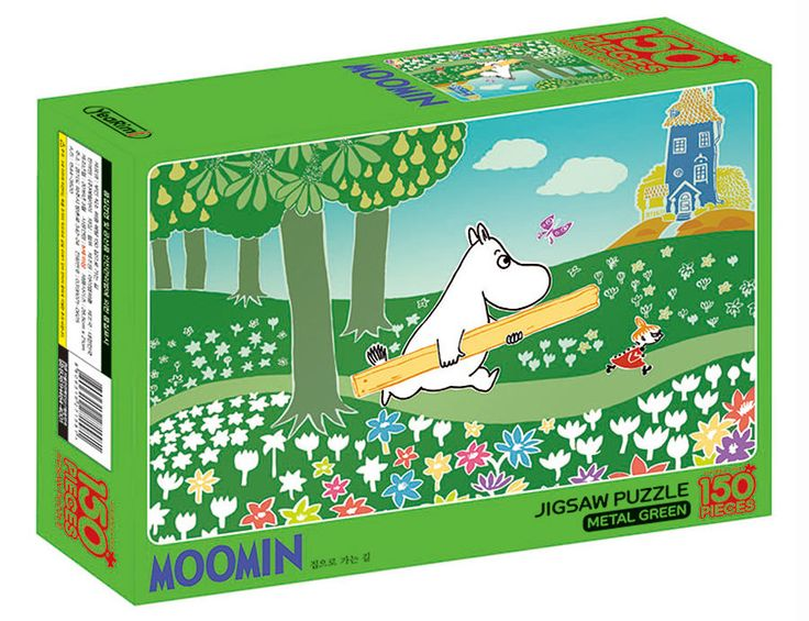 MOOMIN Characters 150 pieces Toy Hobby Jigsaw Puzzles Way to Home METAL GREEN #LineFriends