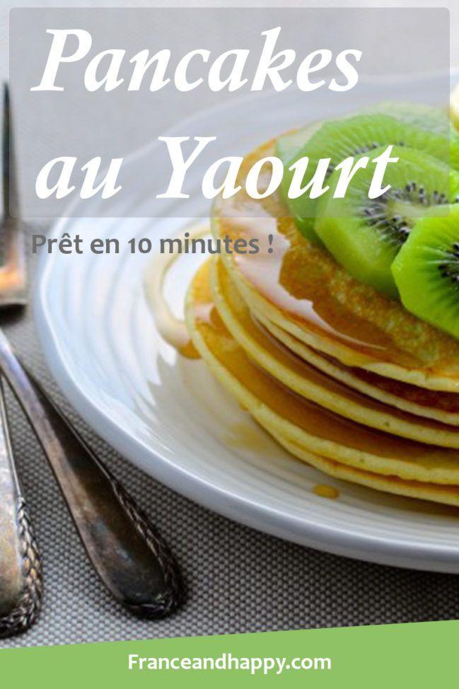 Pancakes au yaourt croq'kilos: Recette super simple prête en 10 minutes ! Et si DÉLICIEUSE ..!     2 oeufs     120 g de fromage blanc 0% (Je n'en avais pas donc j'ai utilisé du yaourt nature)     60 g de farine (J'ai utilisé de la farine de seigle)     1 c. à café de levure chimique     15 g de sucre roux     15 g de miel