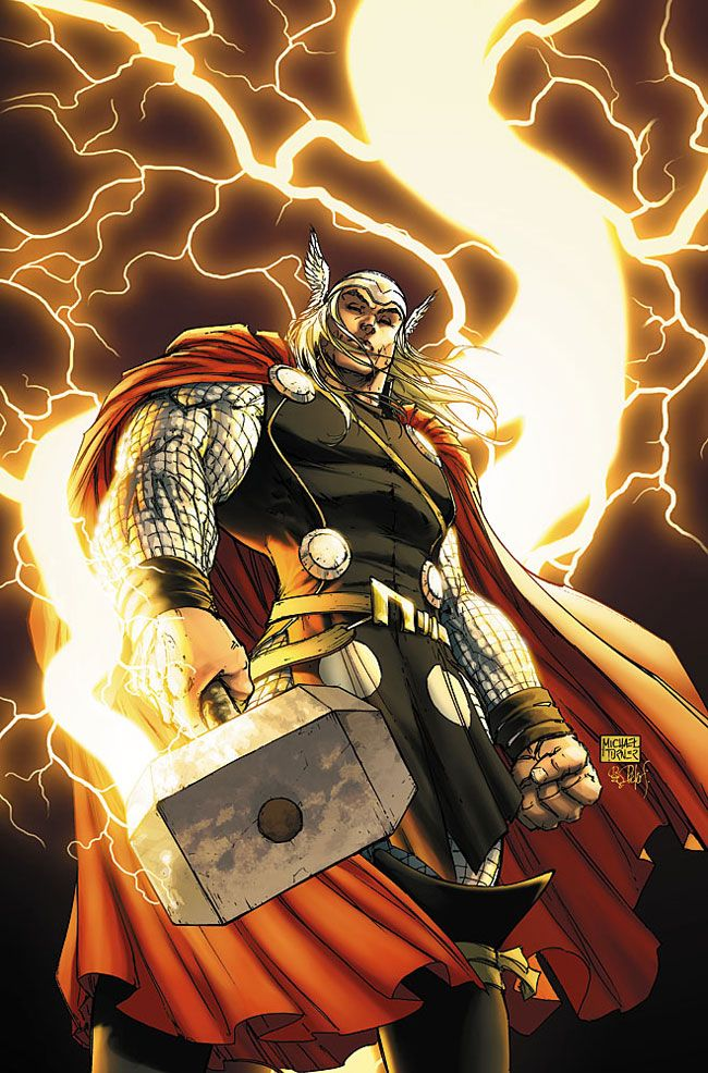 "Thor ""The Thunderer Odinson. He's just Odinson for now 'cause Jane Foster has Mjolnir"