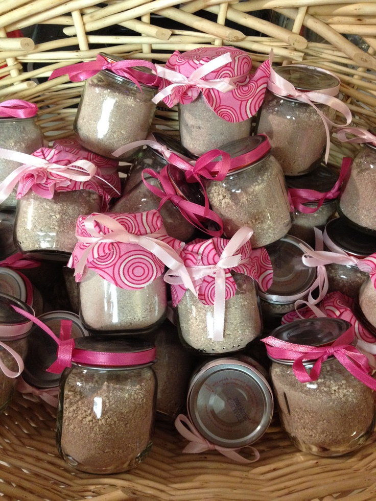 Baby Shower Favors For Twins Homemade ~ Homemade hot chocolate in baby food jars as shower favors