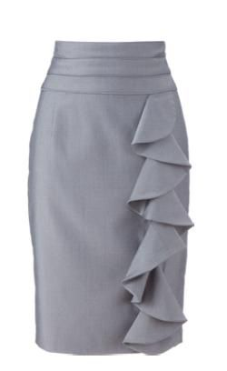 great ruffle pencil skirt for the tall not small women of the world from Long Tall Sally!