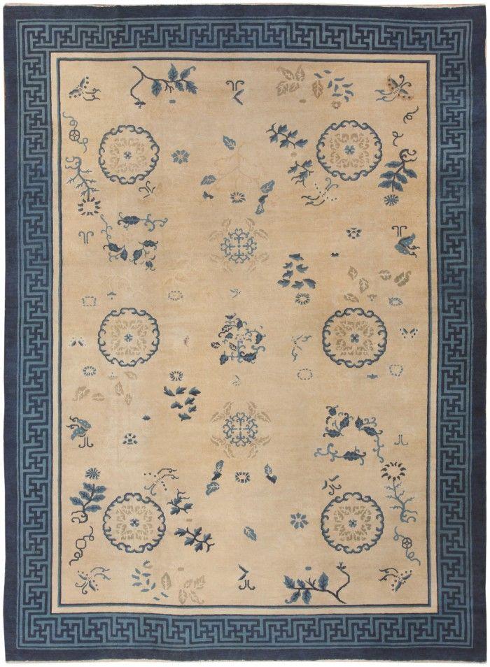 Antique Chinese Carpet 46821 Nazmiyal - By Nazmiyal