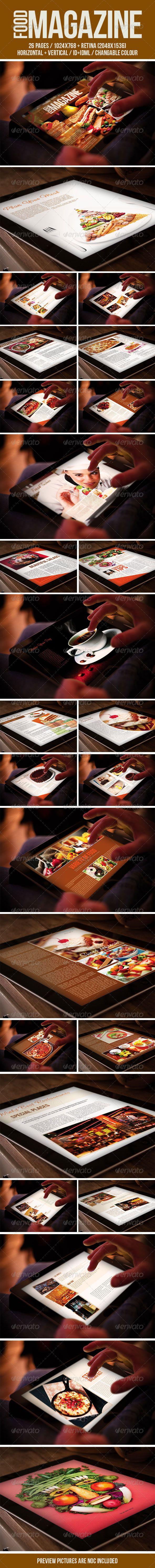 Tablet Food Magazine Template