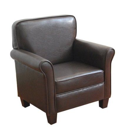 chair for kids. kinfine kids arm chair, dark brown, leatherette boys armchair in brown chair for